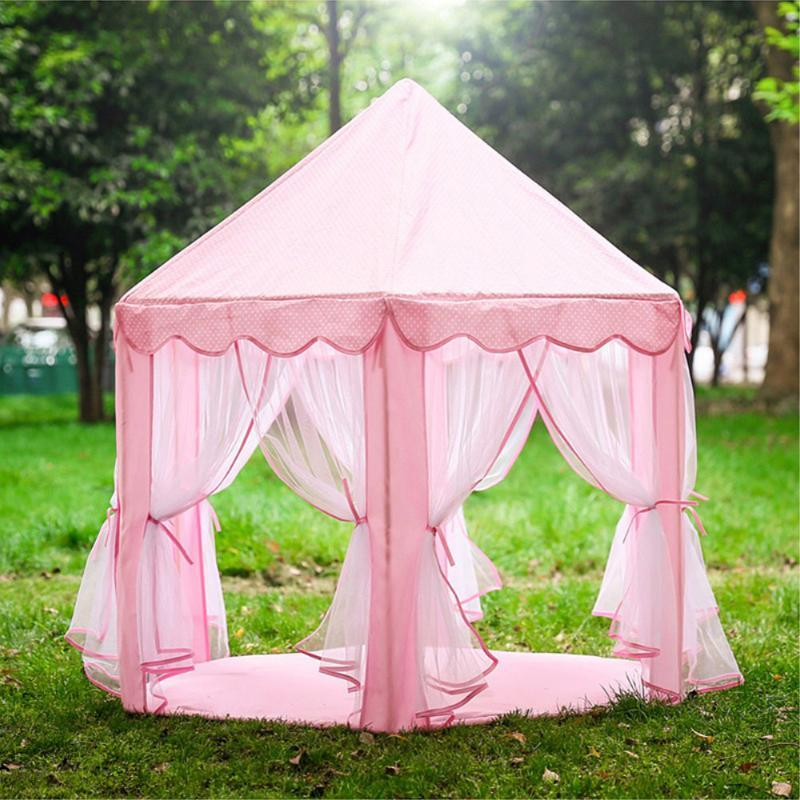 Large Princess Play Tent Castle Tulle Children Game House Four-Season Tents For Home Backyard Park Party