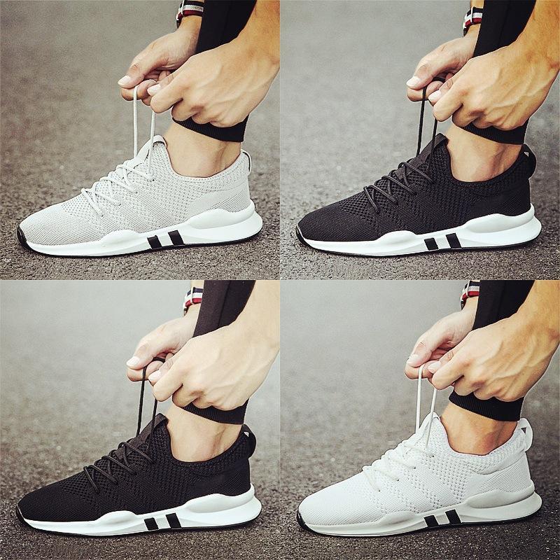 Yeni Moda Nefes Sneakers Yumuşak ve rahat Zapatos Hombre dokuma erkek spor ayakkabıları Erkek ayakkabı gündelik Erkek Uçan Ayakkabı
