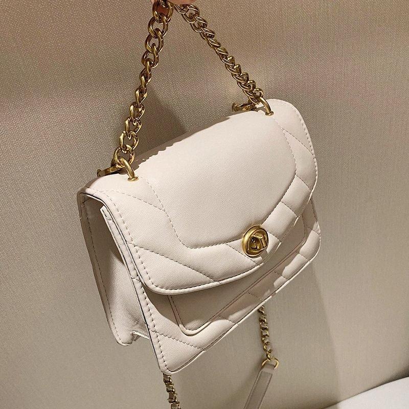Reticolo quadrato Crossbody bag 2020 della moda di New di alta qualità delle donne di cuoio borsa dell'unità di elaborazione la catena della spalla Messenger Bag U9Eg #