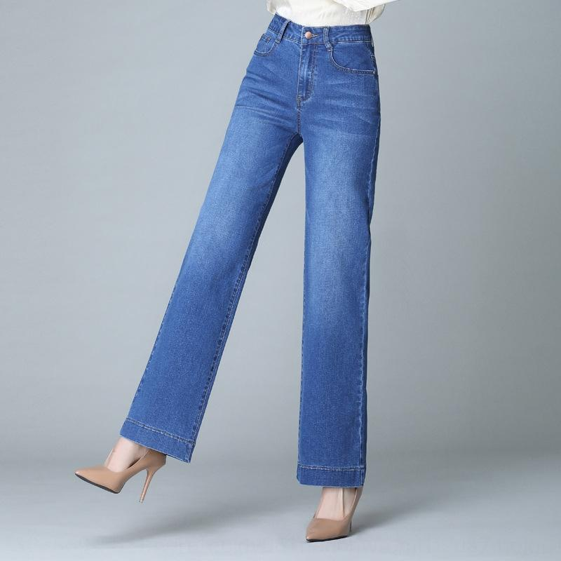 2020 i jeans delle donne di autunno estate ed i jeans di moda, più grassi delle donne allentate casuali più i pantaloni a gamba larga dimensioni pantaloni dritti vita alta UVRSD UV
