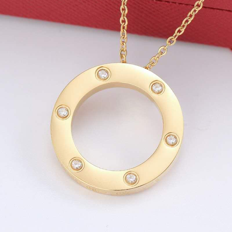 2020 Лучшего качество LOVER Подвески Золото Серебро ожерелья цвета для женщин подарка ювелирных изделий с оригинальной сумкой Set