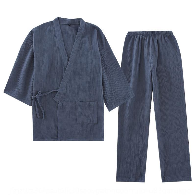 cNp8p 2EcRR las mujeres del hogar del algodón puro y Albornoz de los pares sueltos de baño traje de mujeres de gran tamaño sudor humeante casa la ropa pijamas hombres pijamas