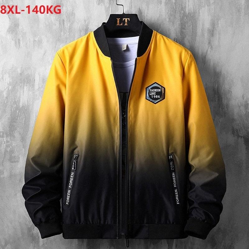 automne vestes haute streetwear hommes patchwork taille plus 7XL 8XL lettre fermeture à glissière Hip hop oversize vestes en vrac refroidissent personnalité 58 TViB #