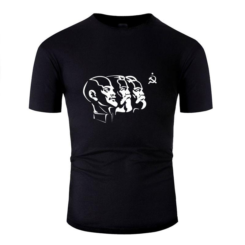 Casual Divertente comico Lenin URSS Comunismo Falce e martello sovietica Tshirt Uomo Immagini O collo T Shirt Abbigliamento Hiphop Top