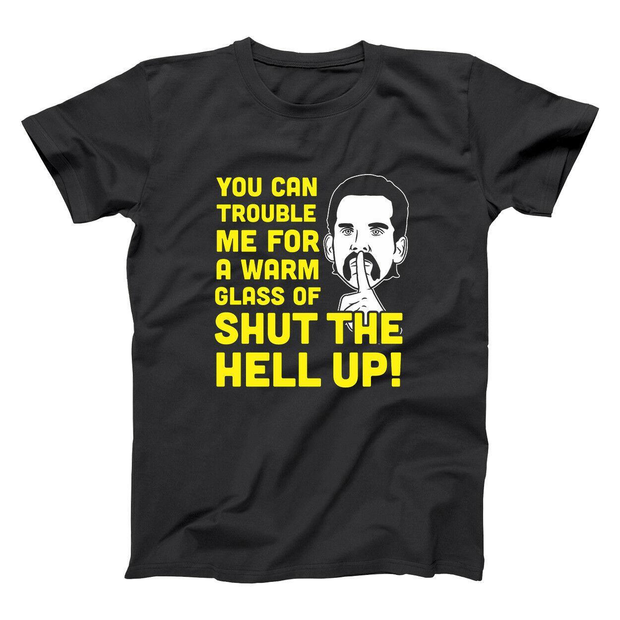 Glass Of Shut The Hell Up  Billy Madison Funny Black Basic Men/'s T-Shirt