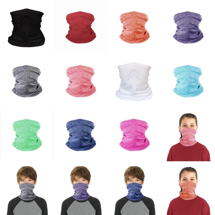 Children Face Mask Protective Mask Scarf Cycling Headband Magic Riding Bandanas Outdoor Turban Masks Supplies Kids Face Fitness CYZ2652 Qvcm