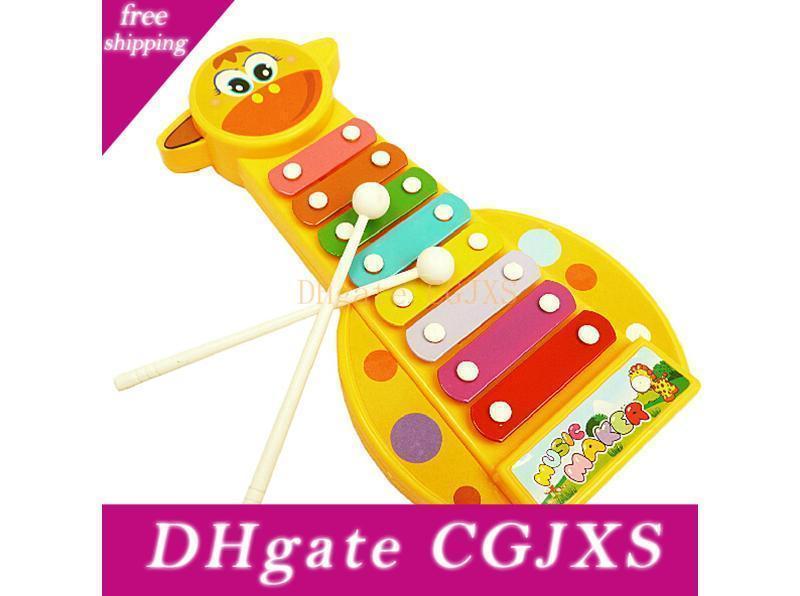 23CM لطيف الزرافة إكسيليفون قرع الصك الموسيقى لعبة صندوق الاطفال الرضع مونتيسوري التعليم المبكر الموسيقية La332 دي إتش إل شحن مجاني