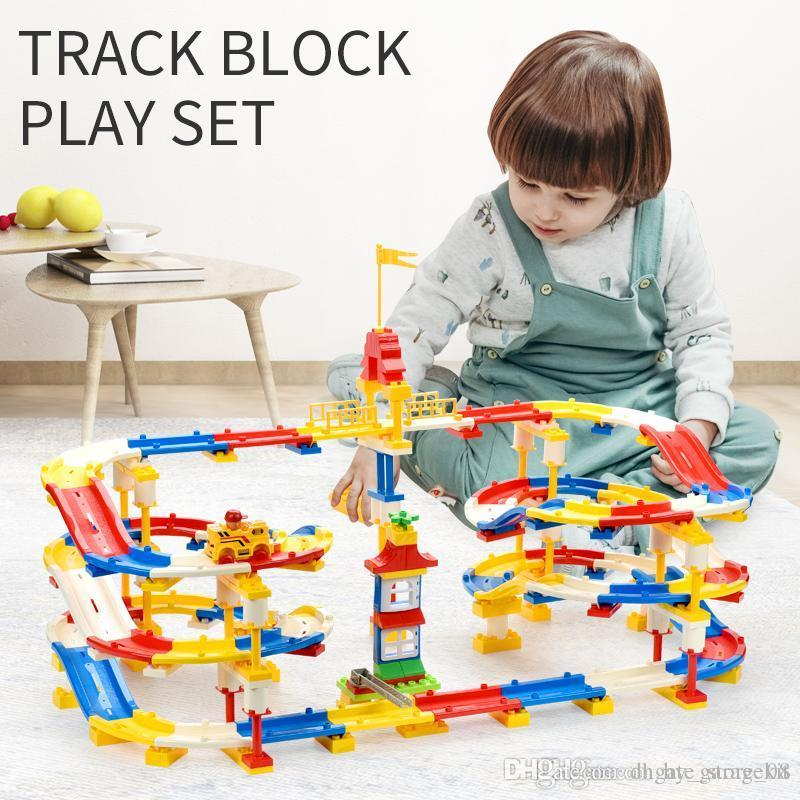 Children's toy changeable building blocks track puzzle assembly of high quality large particle blocks both boy and girl