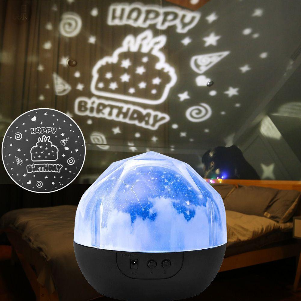 Multi-funcional luz colorida Rotating Projector Led Prático Durável Sky Star para Crianças Bebê lâmpada de projeção