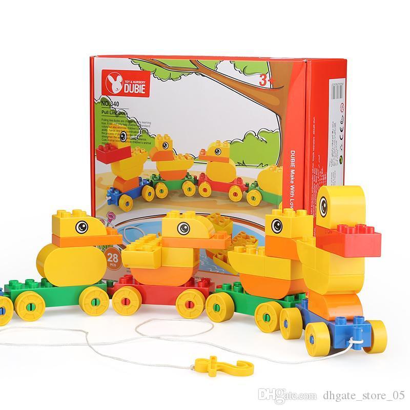 Educación preescolar matchmaking serie de pato de grano grueso juguetes juguetes regalos de los niños bloquea los juguetes del rompecabezas para los niños