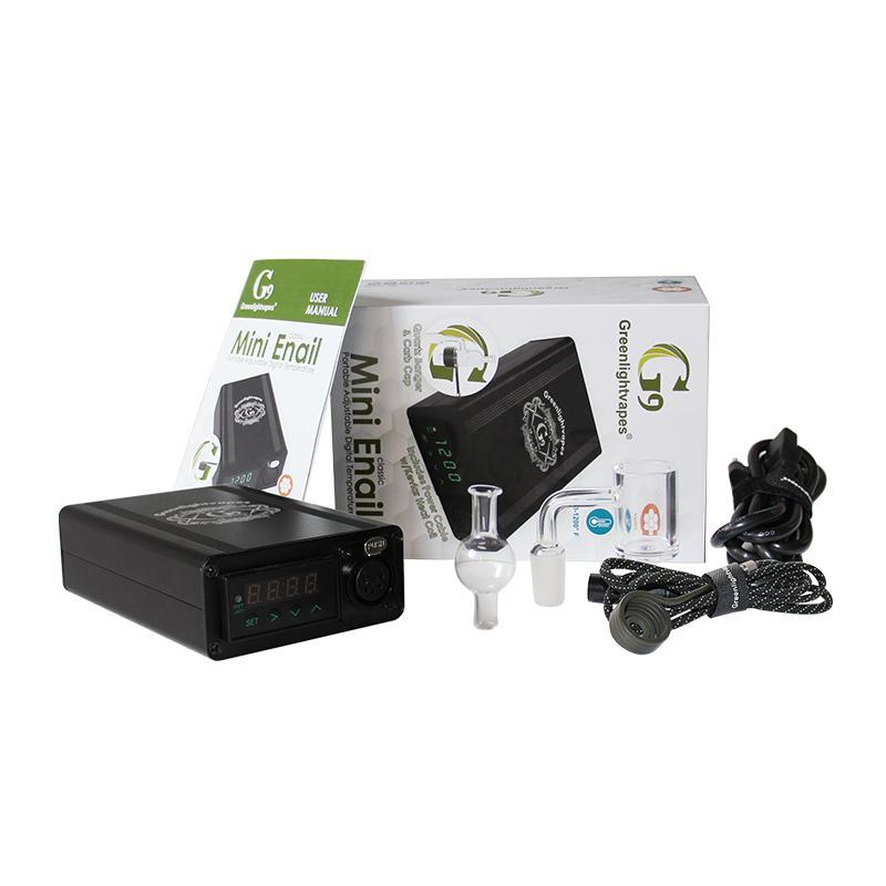 E-ula clavo Kits eléctrico DAB Rig Tember Control Box Bag 14mm Masculino Cuarzo Nails 25mm Bobina Calentador
