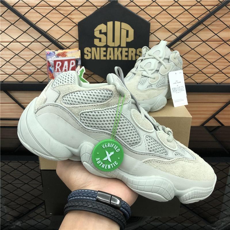 new kanye west 500 soft vision men women running shoes bone white sneakers blush salt desert rat utility black athletic trainers with box