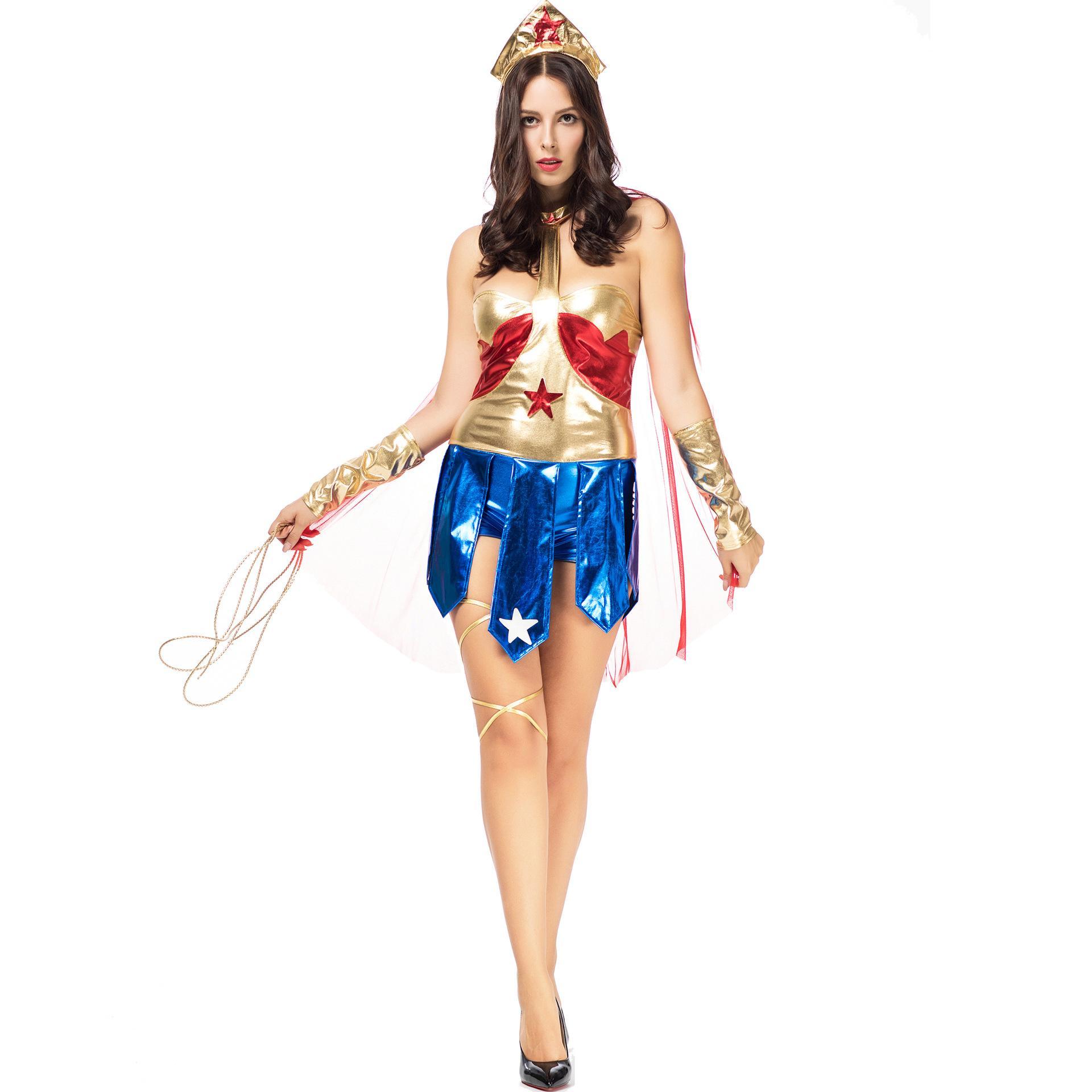 S-L European and American new Halloween Wonder Woman costume, cosplay, superman gladiator uniform