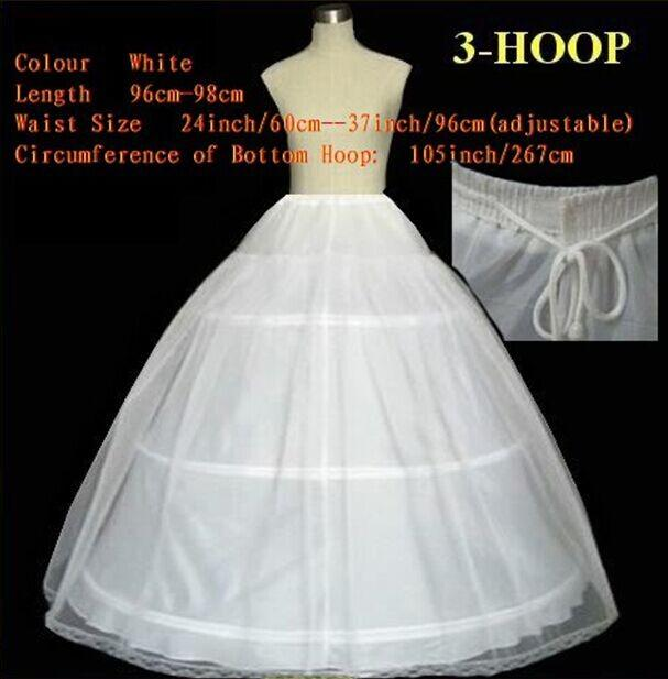 Wholesale Wedding Dress Petticoat Slip Adjustable Waist Size Two Layers Three Hoops Bridal Underskirt Crinolines Wedding Accessories