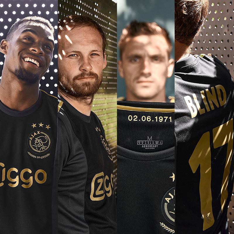 2021 ajax Avrupa jersey 50 futbol forması altın siyah # 11 PROMES 20/21 erkekler üçüncü futbol gömlek Futbol gömlek özelleştirilmiş