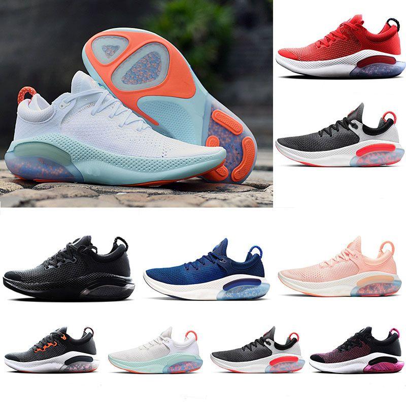 Joyride Run Flyknit Running Shoes FK الرجال النساء الاحذية جامعة الثلاثي الأسود الأحمر الأبيض البلاتين الأحمر المتسابق الأزرق الرياضة احذية المساعدة يورو 36-45