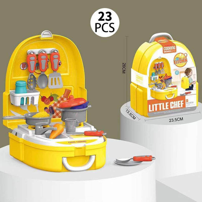 Дети Моделирование макияж комплект ювелирных изделий Доктор Инструменты Супермаркет Чемодан Кухня Посуда Play House Рюкзак наборы Детские игрушки Девушки игры