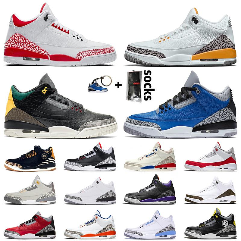 air jordan retro 3 3s Sapatilhas Originais 2020 Top Quality JUMPMAN 2020 Fire Red Laser Orange Masculino Basquete Animal Instinct Blue Cement Court Purple Trainers