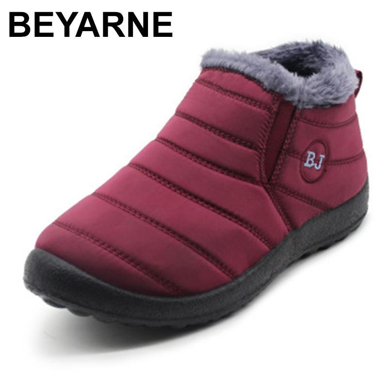 Kadınlar SizeE1002 CX200820 için Kadınlar Günlük Kış Ayakkabı Bilek Boots için Kadınlar Su geçirmez Kar Boots için BEYARNE2019 Kış Çizme