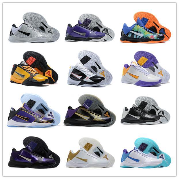 2020 nuovi pattini 5s V MVP Nero Bianco Giallo basket per Mens Black Gold star del basket 22 colori moda sport scarpe da tennis Pattini degli addestratori