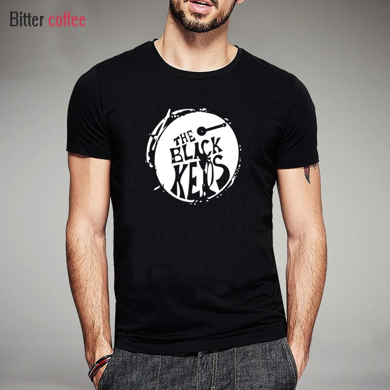 Mode BLACK KEYS T-Shirts reine Baumwolle Kurzarm Rock Roll Männer Hip Hop-Musik-T-Shirt Sommer Printed Tees