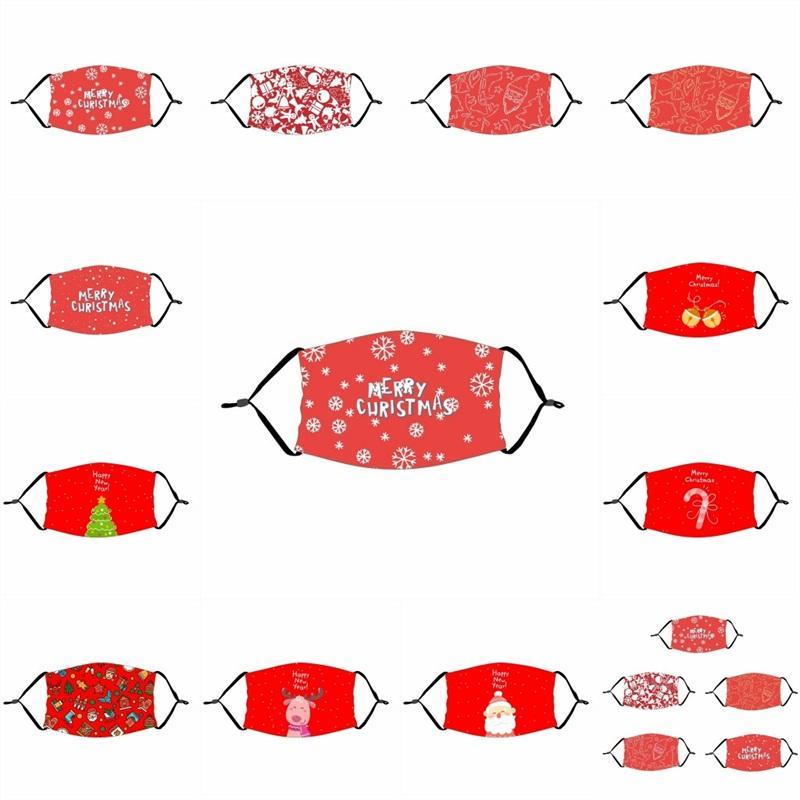 Feliz árbol de navidad rojo de la boca del respirador reutilizable lavable Proteja Mascarilla Con PM2,5 Filtro de la mascarilla a prueba de polvo para adultos Kid 4 2xte B2