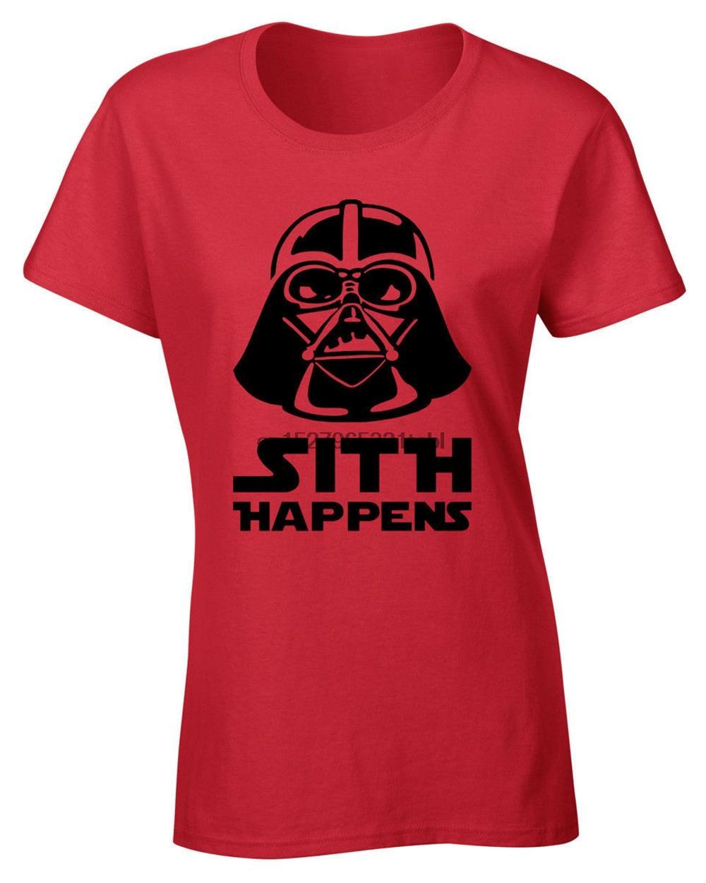 Sith Happens delle signore delle donne maglietta Stella Joke Cult Guerre novità Casual Top Vintage Graphic Tee Shirt