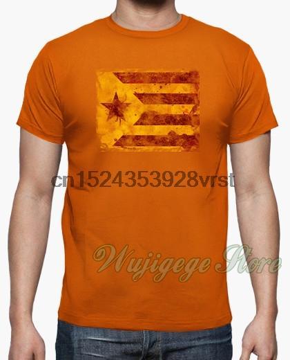 2020-Sommer-T-Shirt Männer Katalonien Frauen Baumwoll-T-Shirt Short Sleeve lustig bedruckte Herren-Oberteile T-Shirts
