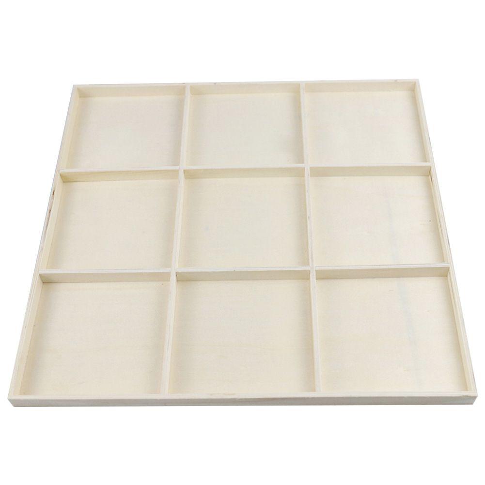 Деревянная Сетка Лоток для хранения Box Портативный Экономия пространства рабочего стола Контейнер украшения