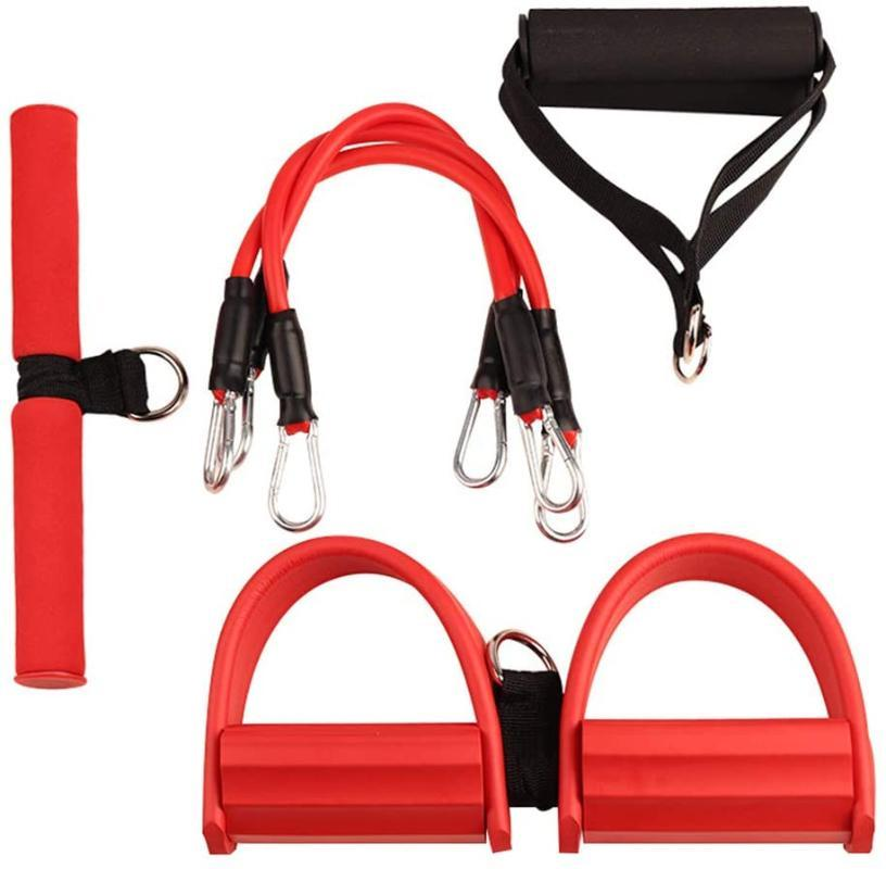 Three-Tube Resistance Elastic Pull Ropes Exerciser Rower Belly Resistance Band Home Gym Sport Training Elastic Bands For Fitness