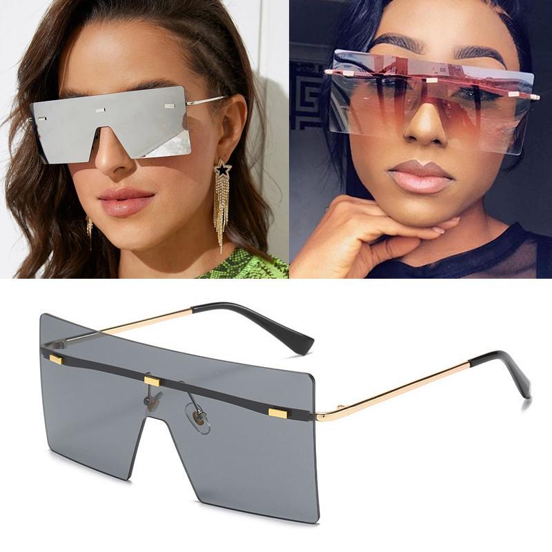 Lunettes surdimensionnées Saré Sun 2020 Lunettes de soleil Sunglasses Designer Siamois Nouveau Vintage Shield Cool Femmes Fashion Ins me UV400 XFBIV