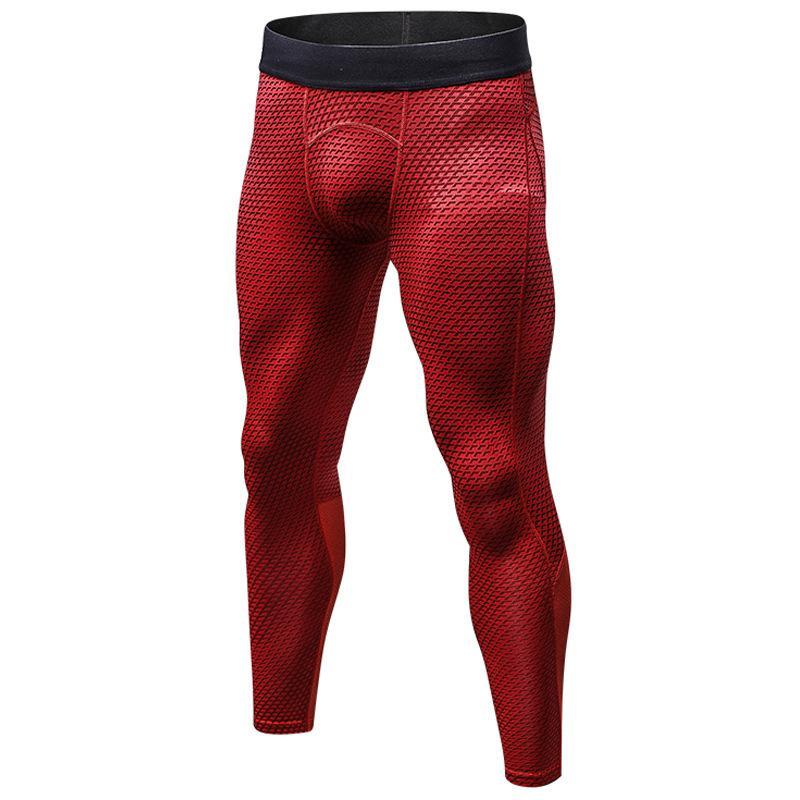 Hombres Deporte largas flaca de los pantalones de cintura alta pantalones lápiz Slim Fit Running para hombre Pantalones de entrenamiento para hombre medias de las polainas Pantalones cortos
