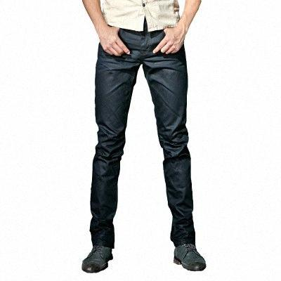 Hommes Coated Jeans Cool Fashion Slim Fit Piercings Biker Denim Pantalons Arrivée Casual Male Solide 0cuf Streetwear #