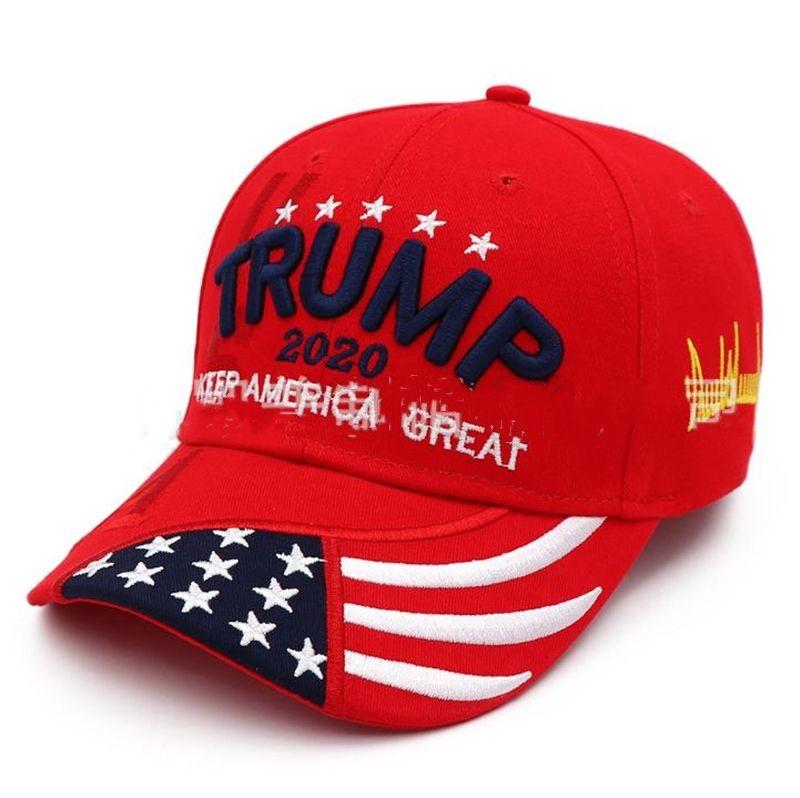 Для вечеринок Donald Trump 2020 бейсболок Держат сделать Америку Великий вышивки Женщина Мужчины Спорт Cap Visor Trump Hat Party Hats LJJA1272