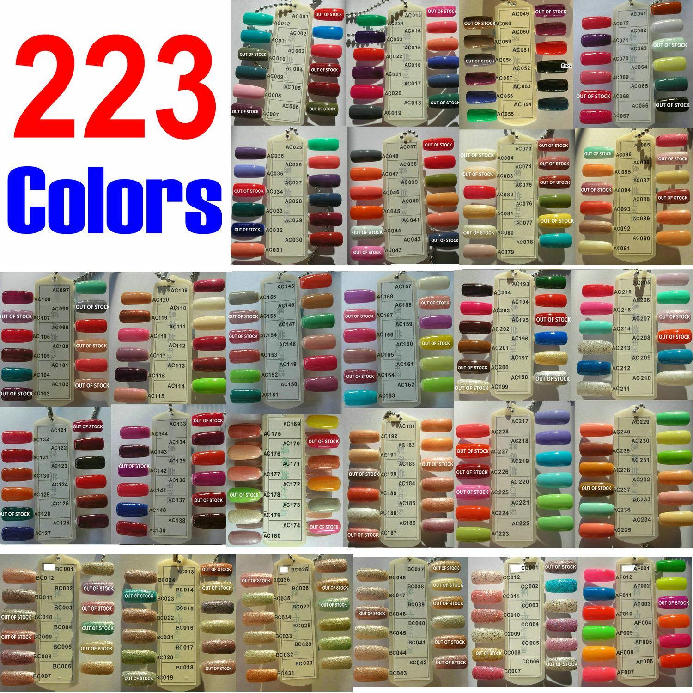 * SPIEL * 223 Farben erhältlich tränken weg von Tränken-Weg Nagel-Kunst-LED Gelpoliermittel Lampen-reines Funkeln-Farben Cure Curing Coat Berufssalon-
