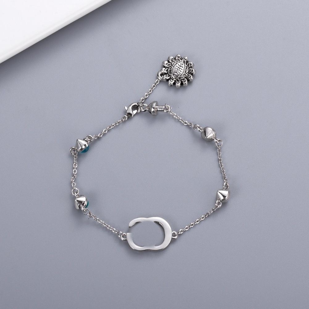 Novo estilo pulseira moda charme pulseira de alta qualidade prata banhado pulseira para mulher moda fashion fornecimento de jóias
