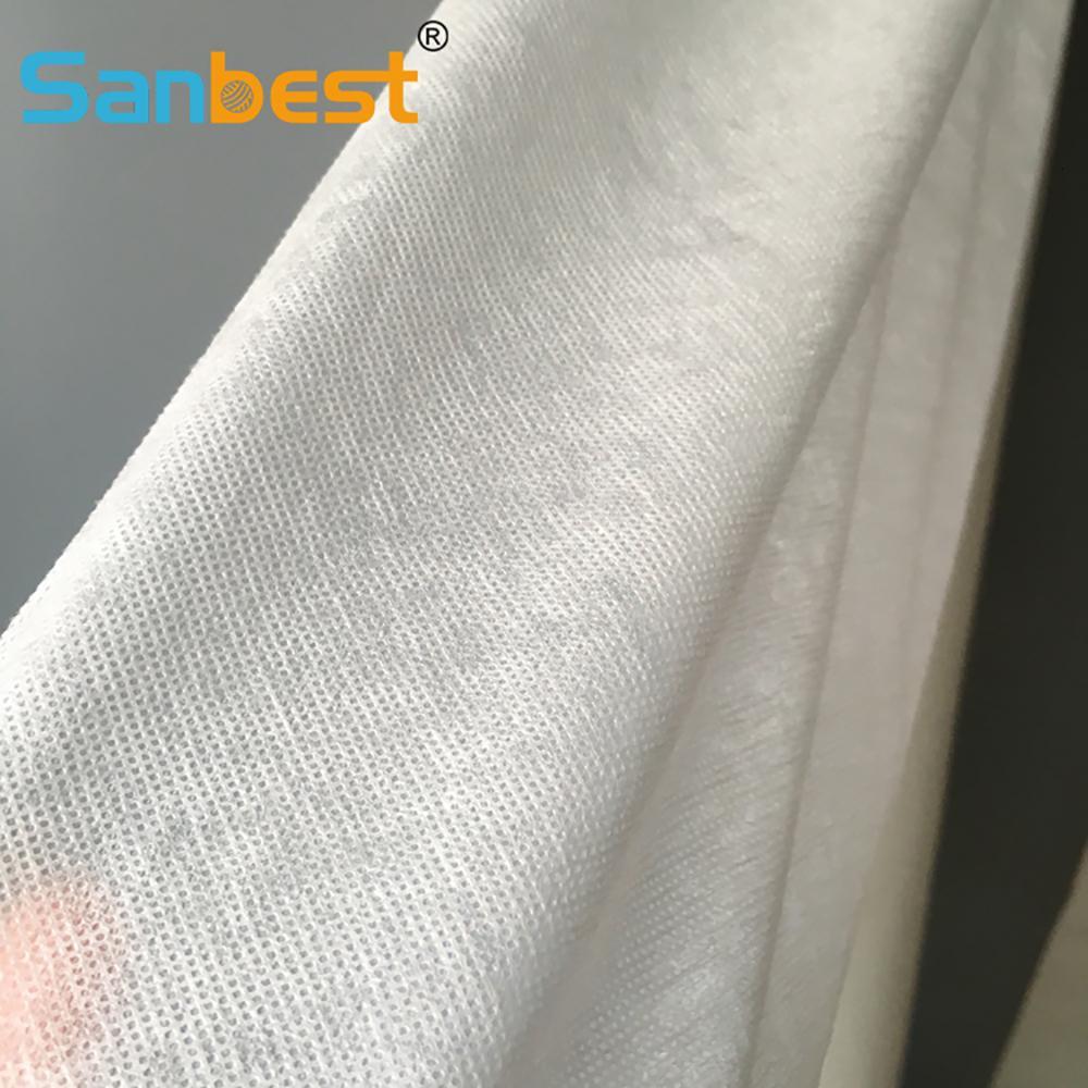 Sanbest 40gsm wegspülen Kaltwasserlösliche Stoff Bäing Stickerei Stabilizer 155cm Breite DIY Fleece Dr Unterwäsche FL00028