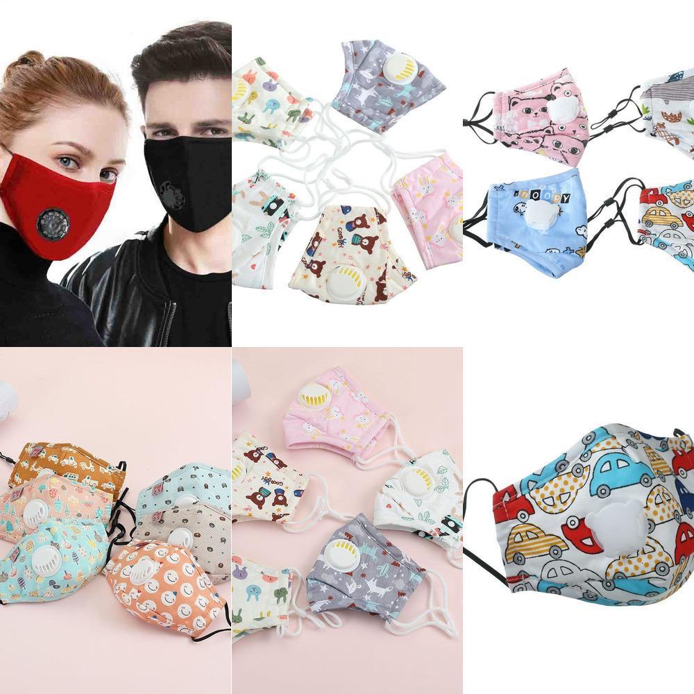Adultes Visage Valve Masque Coton respiration enfants PM2,5 meilleurs masques pour anti-buée et anti-poussière avec filtre 2pcs 11