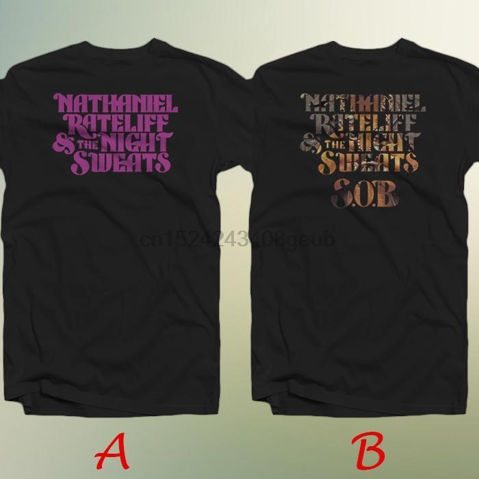 Натаниэль Rateliff Ночь потеет Рок-группа Новая футболка хлопок 100%