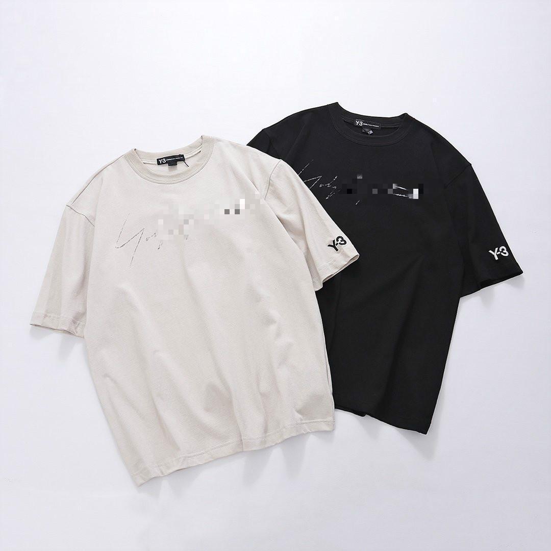 여성과 남성 t- 셔츠 스포츠 패션 직물 고전적인 인쇄 통기성 땀 흡수 단순한 차원 컷 야생 커플 T 셔츠 탑