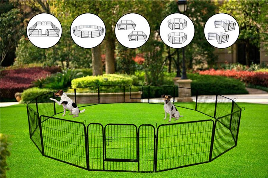 DHL 3-5 Days Shipping US Stock High Quality Portable Outdoor Folding 16-panel Heavy Duty Metal Pets Playpen W24101524