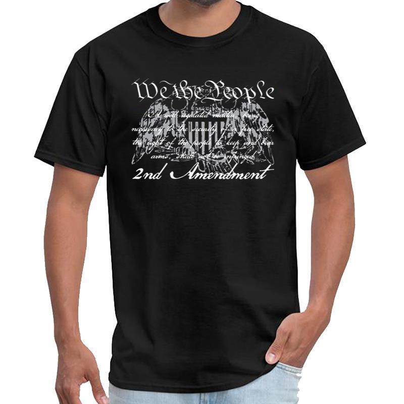 Веселое мужская с длинным рукавом T-Shirt - вторая поправка - Серый ноль две рубашки Ьотте Мандалорская тенниску плюс размеры s-5xl хип-хоп в
