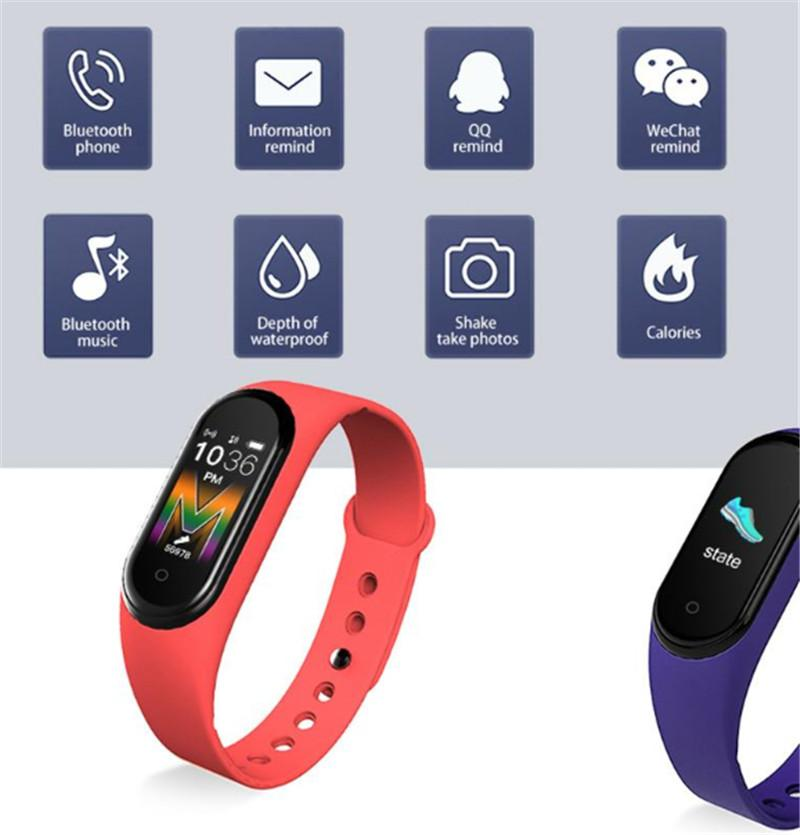 2020 M5 Sport samsung smart watch Men Bluetooth Watch Wristband Fitness Tracker Call Smartwatch smartwatch reloj inteligente