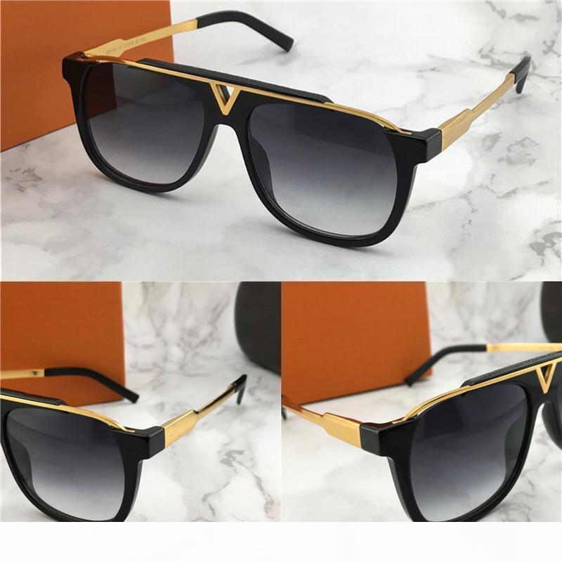 2019 Nuovo popolare di vendita calda uomini di modo progettista occhiali da sole 0937 piazza piastra di metallo cornice combinazione di alta qualità lenti anti-UV400 con box