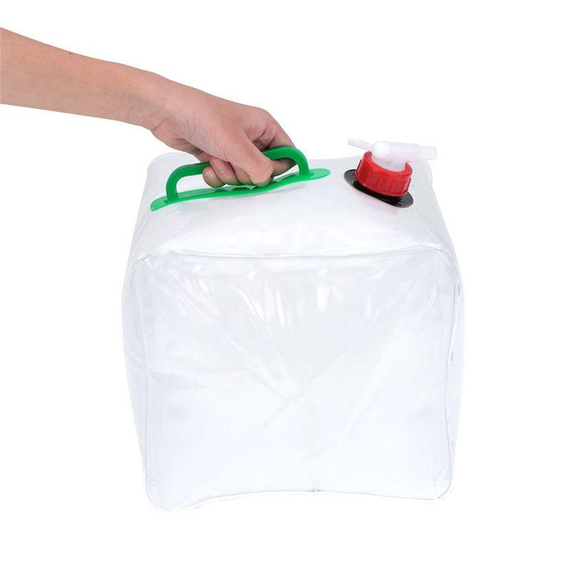 10L PVC plegable al aire libre plegable bolsa de agua potable de almacenamiento del agua del coche de transporte de contenedores para acampar al aire libre Senderismo bolsa de picnic