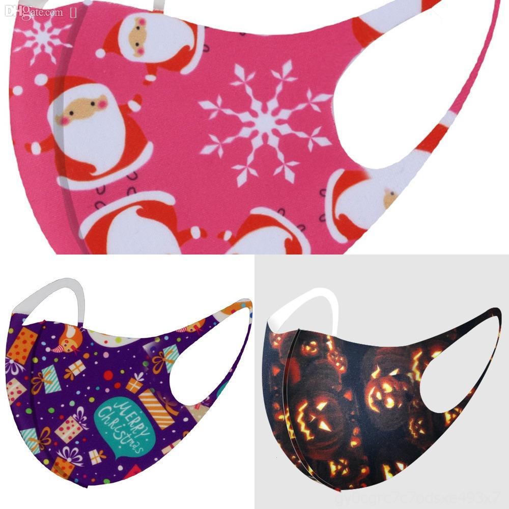 Maschere vzxwV Red adulti Babbo Natale stampato Fiocco di neve dei cervi Natale Xmas lavabile viso di Babbo Natale maschere antipolvere lavabile di Natale Bocca R