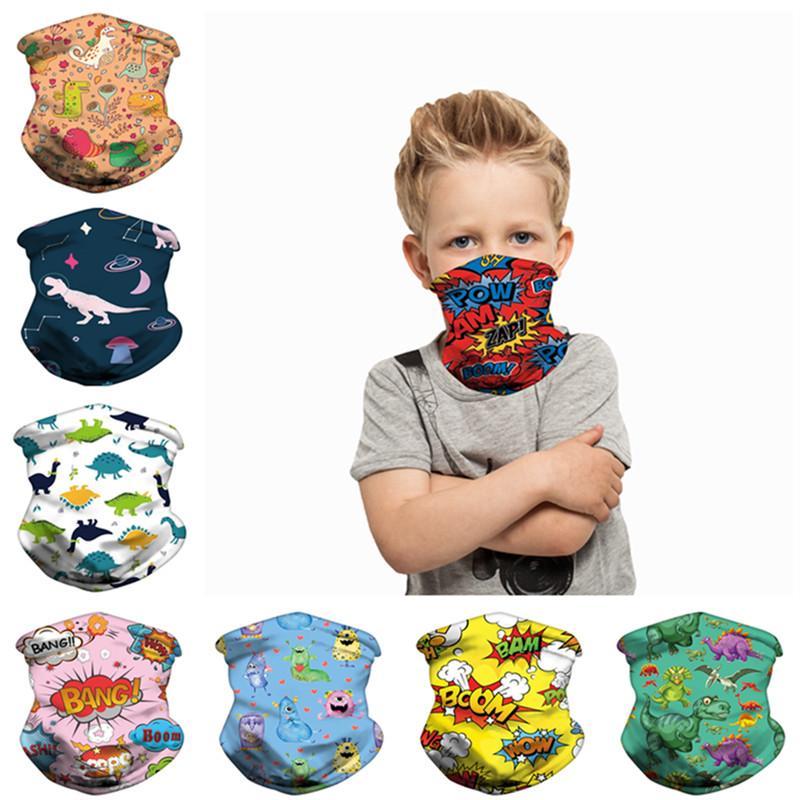 Maschera bambini Moda bambini Scudo Protettivo Outdoor lavabile in bicicletta Sport Magic Ice Sciarpa di seta Bandana Fasce Bandane Turbante 2020