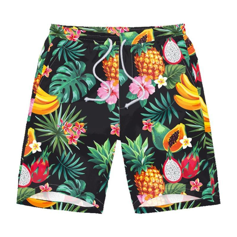Verão Graffit calções casuais Imprimir Praia Shorts Mens Quick Dry Conselho For Men Beachwear Calças Curtas Roupa