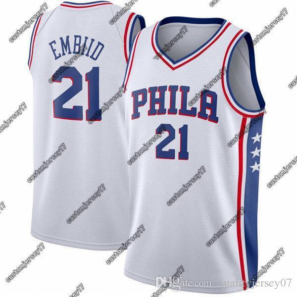 Nouvelle saison Hommes 76erscrême Philadelphia21 Embiid royale Swingman Jersey icône édition Joel basket Maillots Ville
