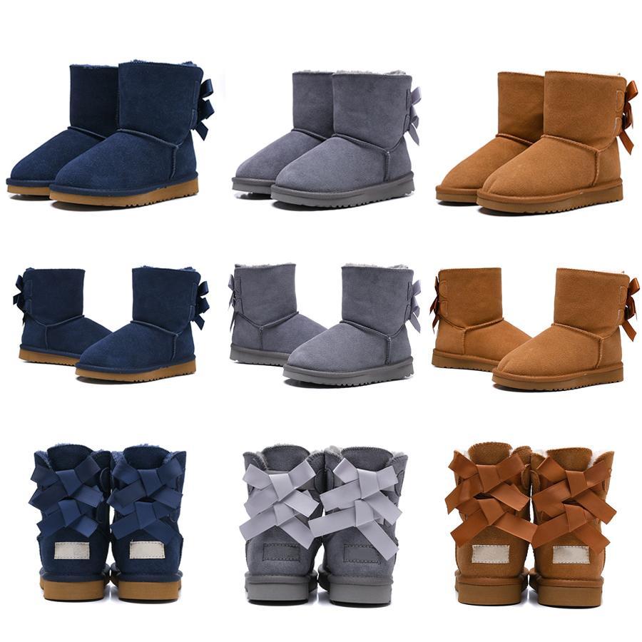 Botas quentes botas de neve jovens estudantes neve botas de inverno 2018 novos reais australianas G5821 alta qualidade crianças meninos